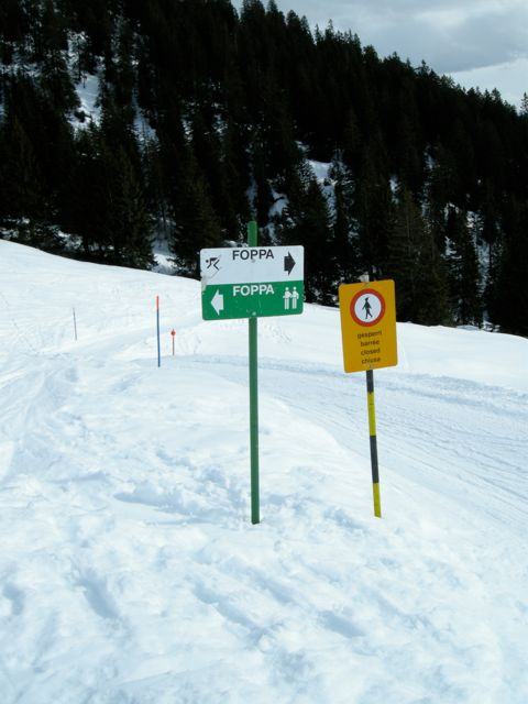 Angewandte Semiotik im Schnee